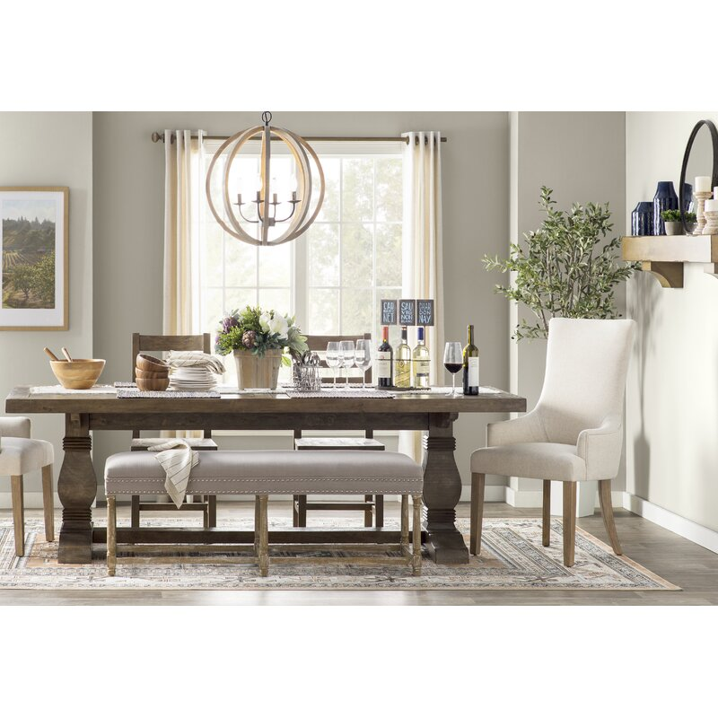 Gertrude Solid Wood Dining Table Reviews