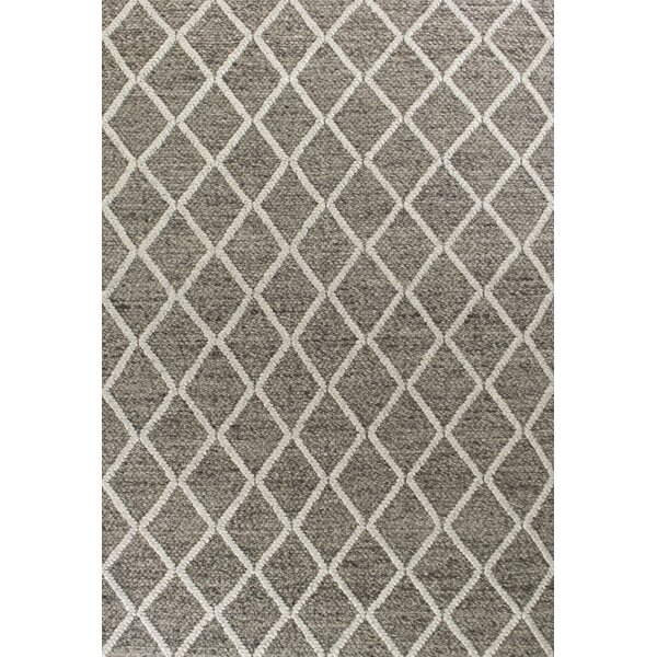 Bettie Hand Tufted Wool Dark Gray Diamonds Area Rug Reviews Joss Main