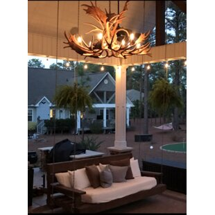 Attwood Antler Fallow Mule Deer Single Tier 12-Light Chandelier by Loon Peak