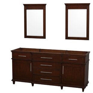Berkeley 71 Double Bathroom Vanity Base by Wyndham Collection