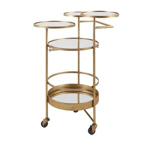 Beth Kushnick Bar Cart by Woodland Imports