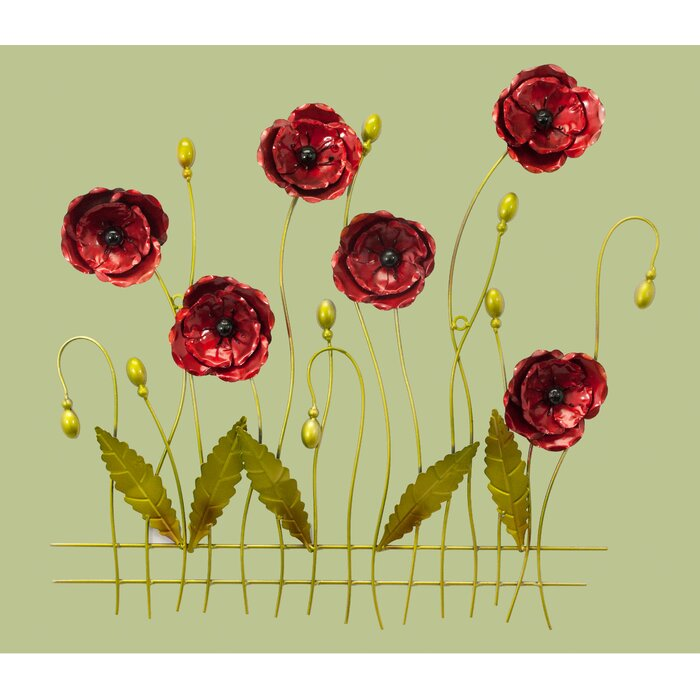Awesome Flower Metal Wall Art Decor Collection - Wall Art ...