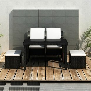 Batista 4 Seater Dining Set With Cushions By Sol 72 Outdoor