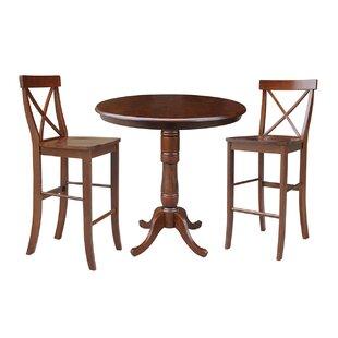 Dingler 3 Piece Pub Table Set