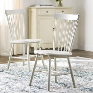 Saint-Pierre Solid Wood Dining Chair (Set of 2) by Lark Manor