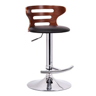 Brydon Adjustable Height Swivel Bar Stool George Oliver
