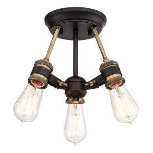 Claudette 3-Light Semi Flush M..