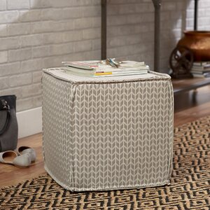 Arris Pouf Square Ottoman by Mercury Row