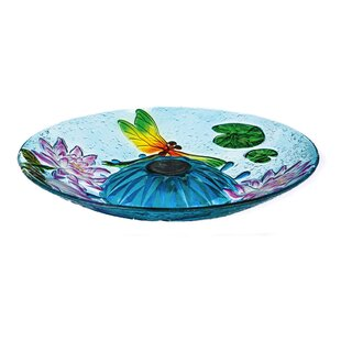 Evergreen Flag & Garden Dancing Dragonflies Solar Lighted Birdbath (Set of 3)