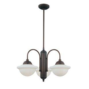 Price comparison Bruges 3-Light Shaded Chandelier By Trent Austin Design