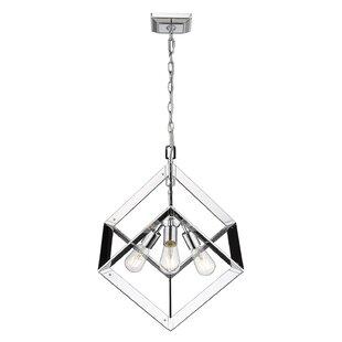 Orren Ellis Trosky 3-Light Geometric Chandelier