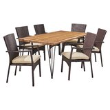 Devair Patio 7 Piece Dining Set with Cushions