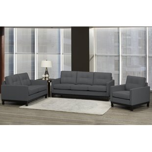Reviews Merrick Road 3 Piece Leather Living Room Set by Latitude Run Reviews (2019) & Buyer's Guide