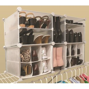 Luxury Living Modular 4-Tier and 14-Compartment 22 Pair Shoe Rack