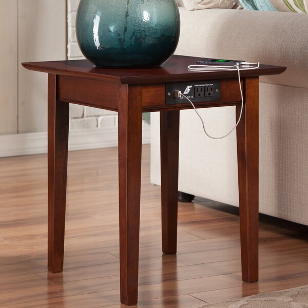charlton home ithaca end table with charging station & reviews | wayfair