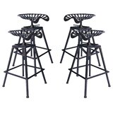 Hoggan Backless Adjustable Height Bar Stool - set of 4 (Set of 4) by Williston Forge