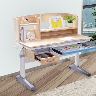 Koerner Wood 47 W Writing Desk with Tilt Desktop by Harriet Bee