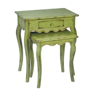 One Allium Way Purnell 2 Piece Nesting Tables