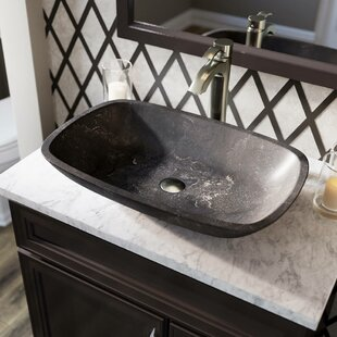 Stone Rectangular Vessel Bathroom Sink with Faucet by MR Direct