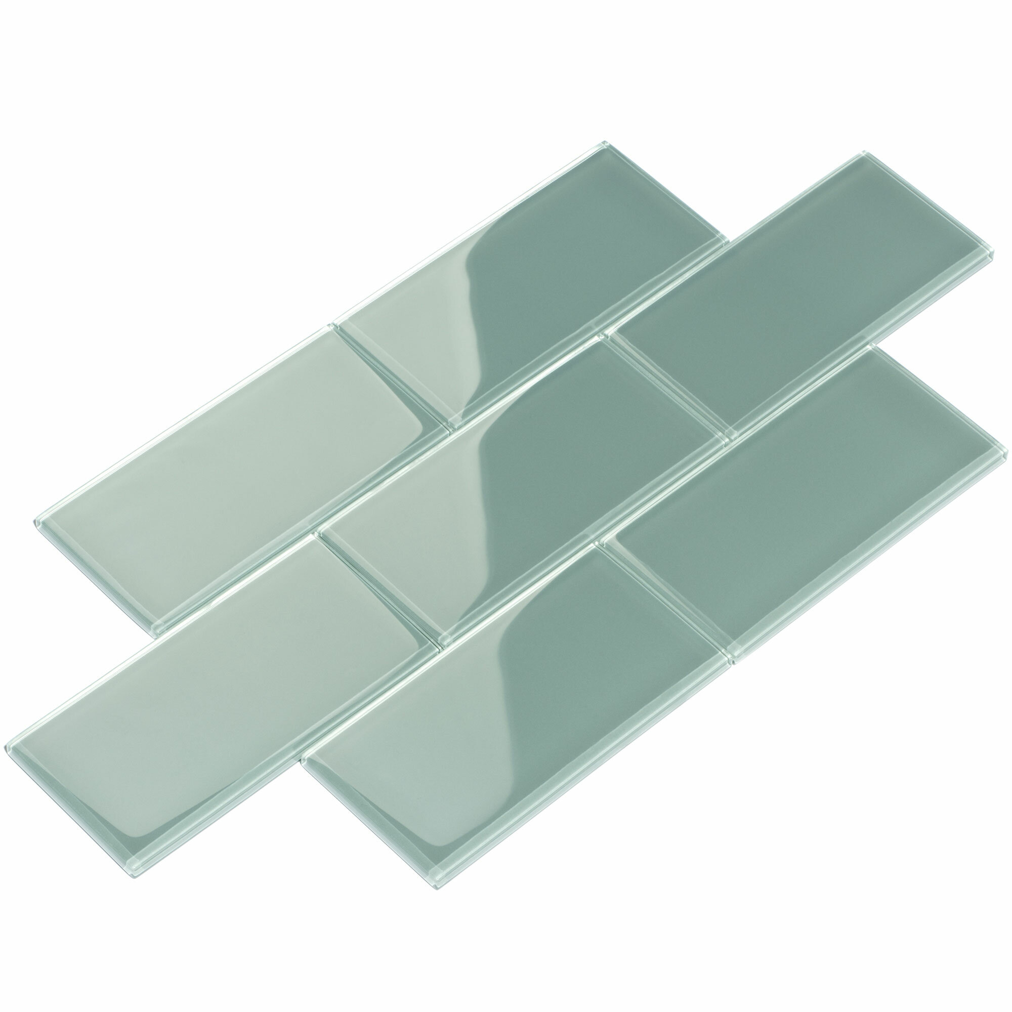 Giorbello 3 x 6 glass subway tile in slate reviews wayfair dailygadgetfo Choice Image