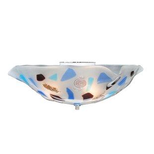 Meyda Tiffany Metro Fusion Organic Slumped Glass 3-Light Flush Mount