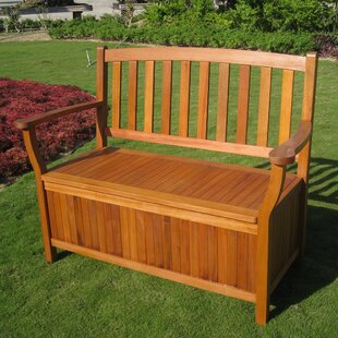 Sabbattus Outdoor Wood Storage Bench