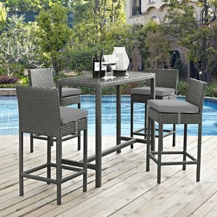 Tripp 5 Piece Bar Height Dining Set with Cushions