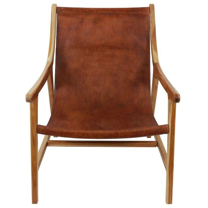Wondrous Mancheer Leather Sling Armchair Uwap Interior Chair Design Uwaporg