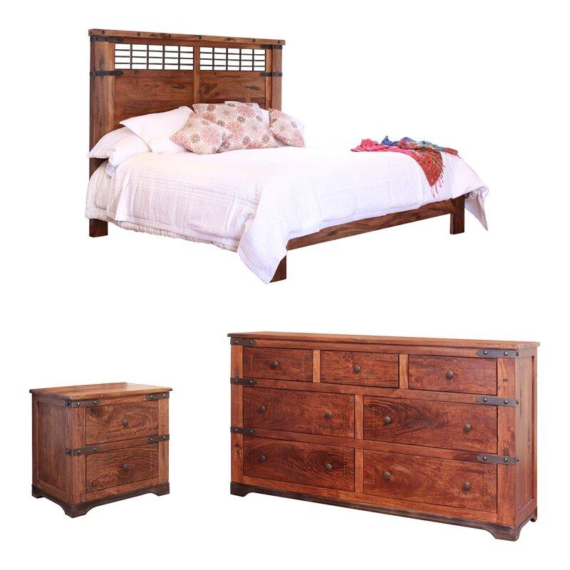 Union Rustic Armino Platform Configurable Bedroom Set ...