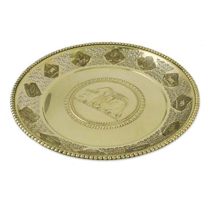 Pasternak Brass Decorative Serving Tray