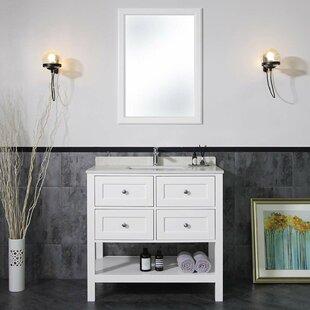 Horwich 37'' Single Bathroom Vanity Set with Mirror by Alcott Hill