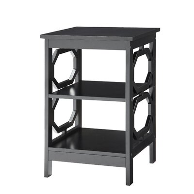 Ardenvor End Table Table Top Color: Black, Table Base Color: Black by Beachcrest Home