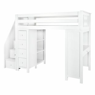 Deshotel Staircase Combo Twin Loft Bed