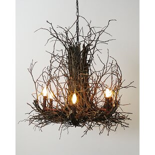 Tree branch chandelier wayfair toney branch twig 6 light candle style chandelier aloadofball Image collections
