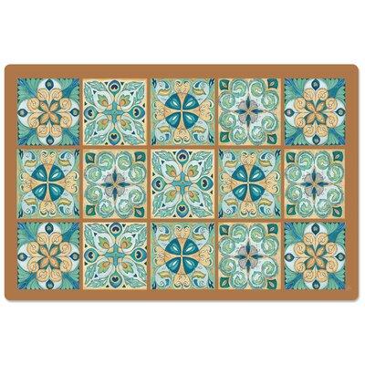 Mccardle Morroccan Tiles Anti-Fatigue Mat World Menagerie