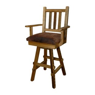 Sycamore 30 Barnwood Swivel Bar Stool (Set of 2)