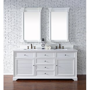 Osmond 72 Double Undermount Sink Cottage White Bathroom Vanity Set by Greyleigh