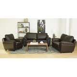 Oreilly 3 Piece Leather Living Room Set by Red Barrel Studio®