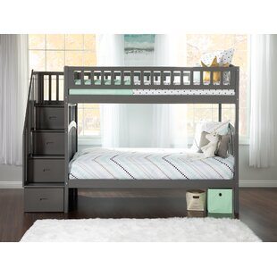 Check Prices Simmons Staircase Bunk Twin over Twin Bed by Harriet Bee Reviews (2019) & Buyer's Guide