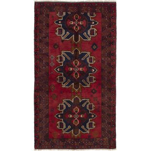 One-of-a-Kind Rosato Hand-Knotted 3'4 x 6'4 Wool Red/Black Area Rug By World Menagerie