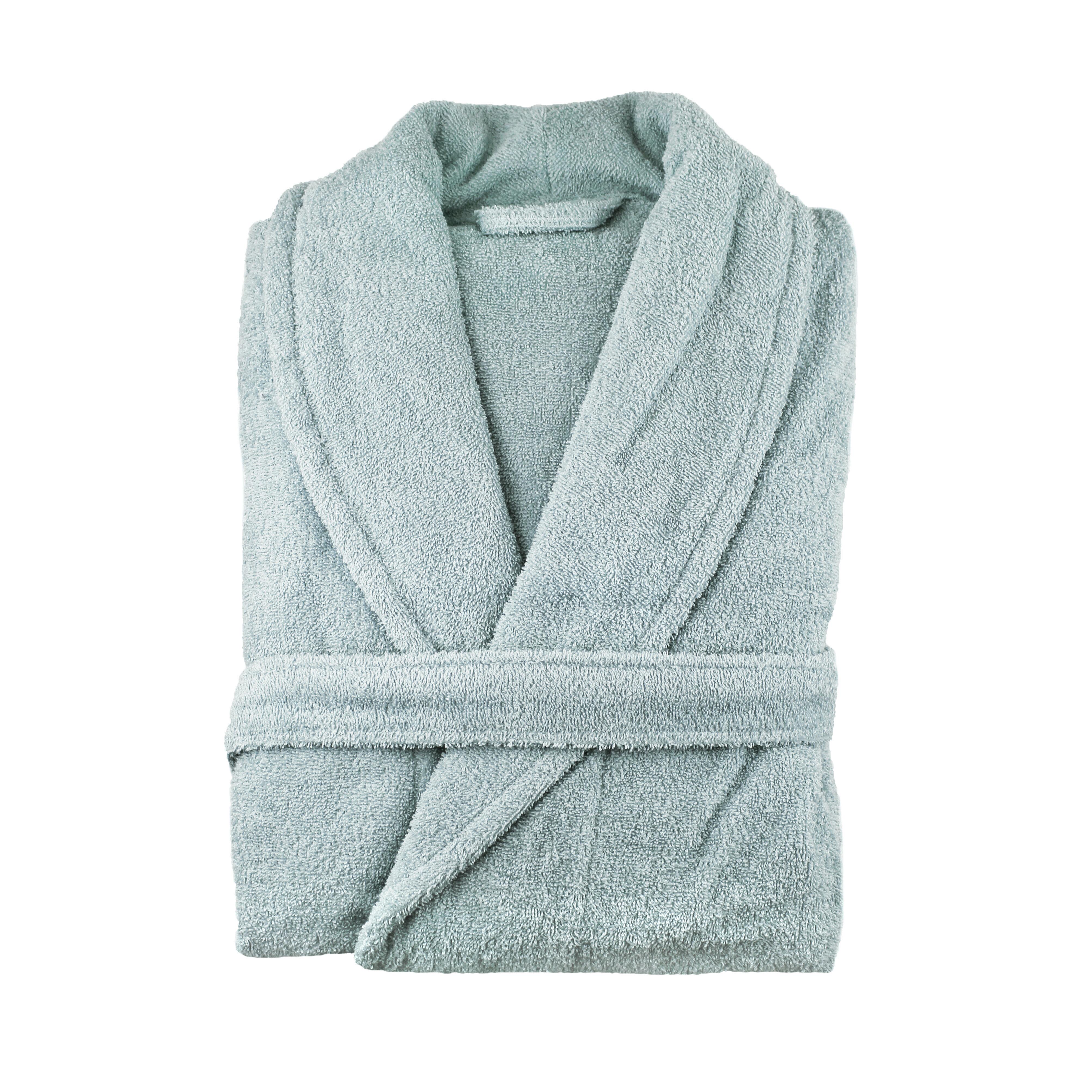 Melange Home 100 Turkish Cotton Terry Cloth Bathrobe Reviews Wayfair