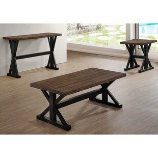 Gracie Oaks Hale 3 Piece Coffee Table Set