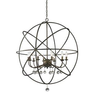 Reviews Leonora 10-Light Chandelier By Rosdorf Park