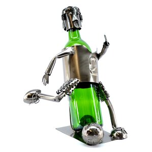 Soccer Player 1 Bottle Tabletop Wine Rack by Three Star Im/Ex Inc.