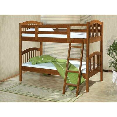 Seibel Wood Twin Over Twin Bunk Bed Harriet Bee Bed Frame Color