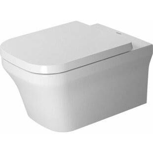 Duravit P3 Comforts 1.28 GPF (Water Efficient) Elongated Wall Mounted Toil..