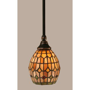 Rodrigues 1-Light Stem Mini Pendant With Hang Straight Swivel by Red Barrel Studio