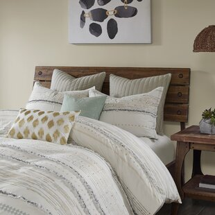 Leffel Cotton Printed Comforter Set with Trims by Bungalow Rose