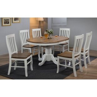 7 Piece Extendable Solid Wood Dining Set ..