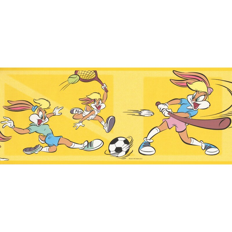 Retroart Lola Bunny Sports Looney Tunes Disney Cartoon 15 X 7
